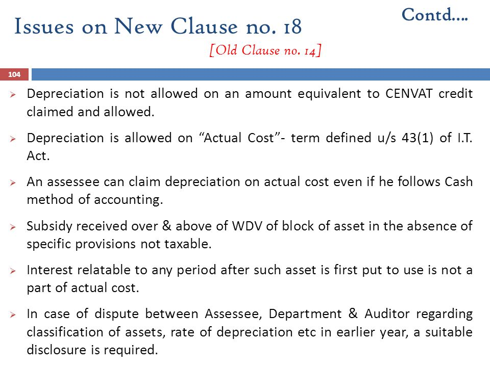 Issues on New Clause no. 18 [Old Clause no. 14]